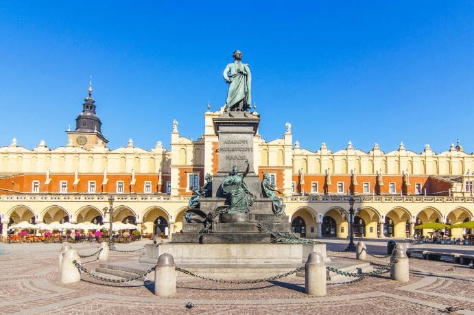 Adam Mickiewicz monumentet - Krakow i Polen