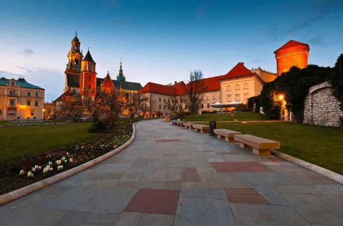 Wawel slottet - Krakow i Polen
