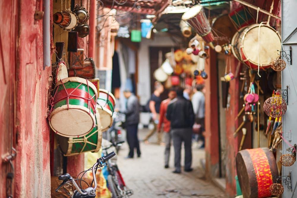 Marked i Marrakech i Marokko
