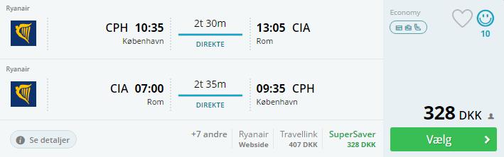 Billige flybilletter til Rom