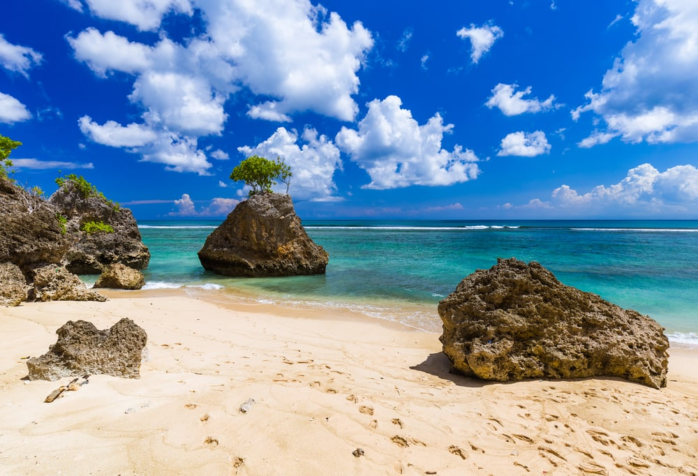 Bingin stranden - Bali i Indonesien