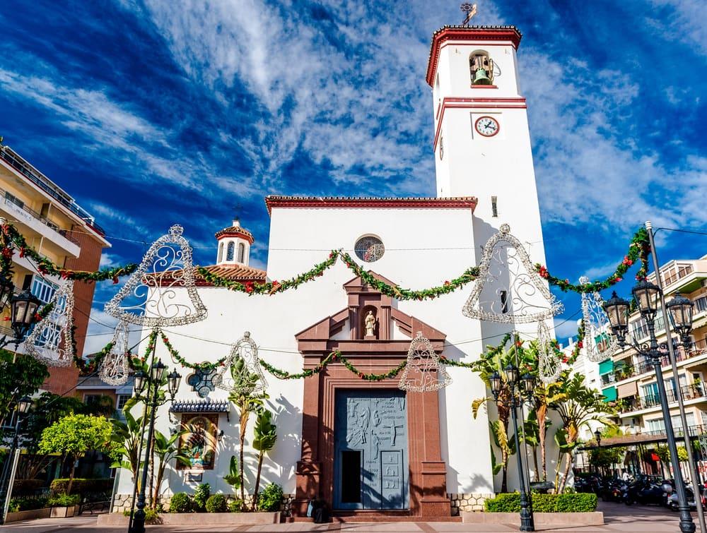 Kirke i Fuengirola - Costa del Sol i Spanien