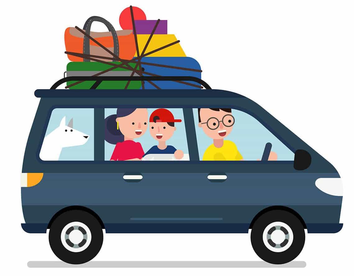 Bilferie med børn