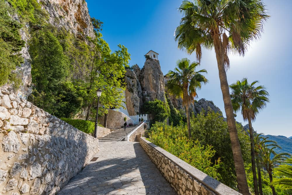 Guadalest slottet - Alicante i Spanien