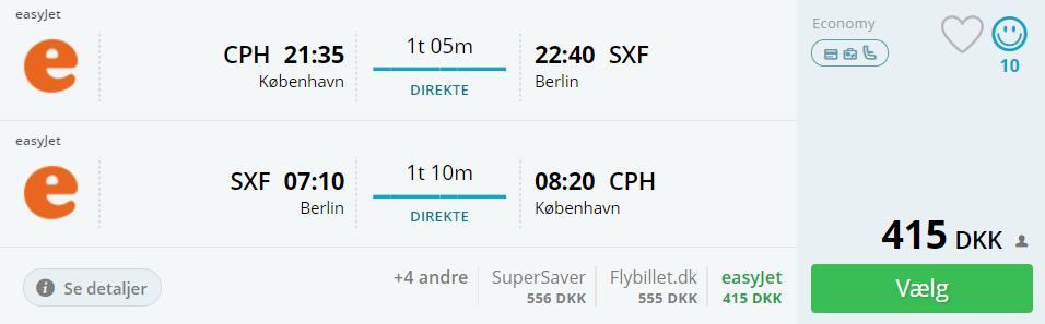 Flybilletter til Berlin i efterårsferien 2017