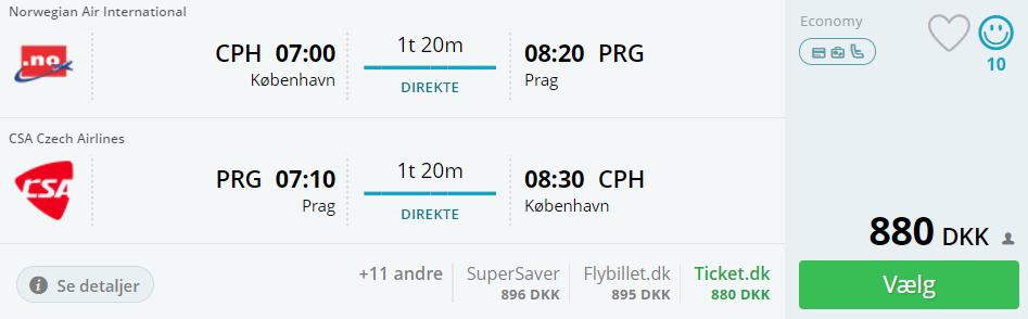 Flybilletter til Prag i efterårsferien
