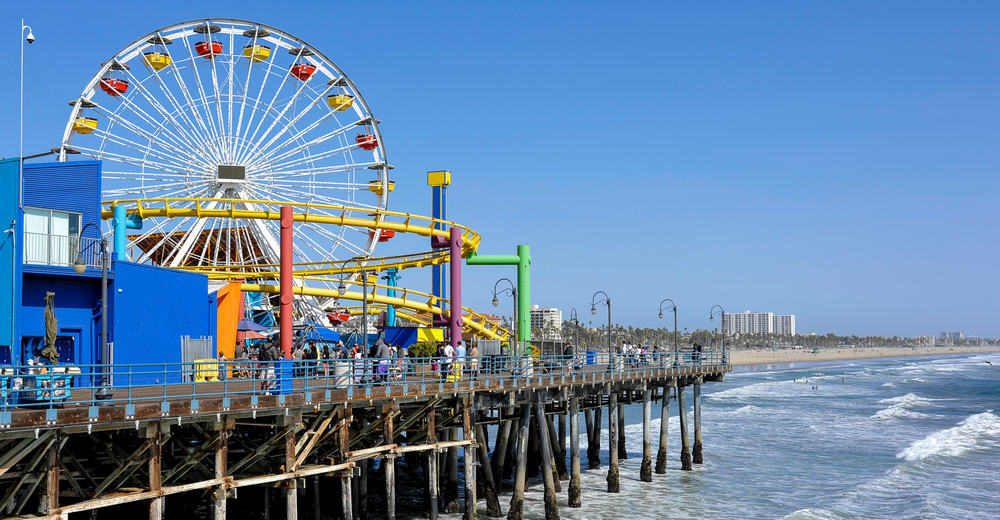 Santa Monica Pier - Los Angeles i Californien