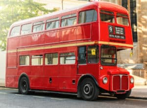 Dobbeltdækkerbus - London i England