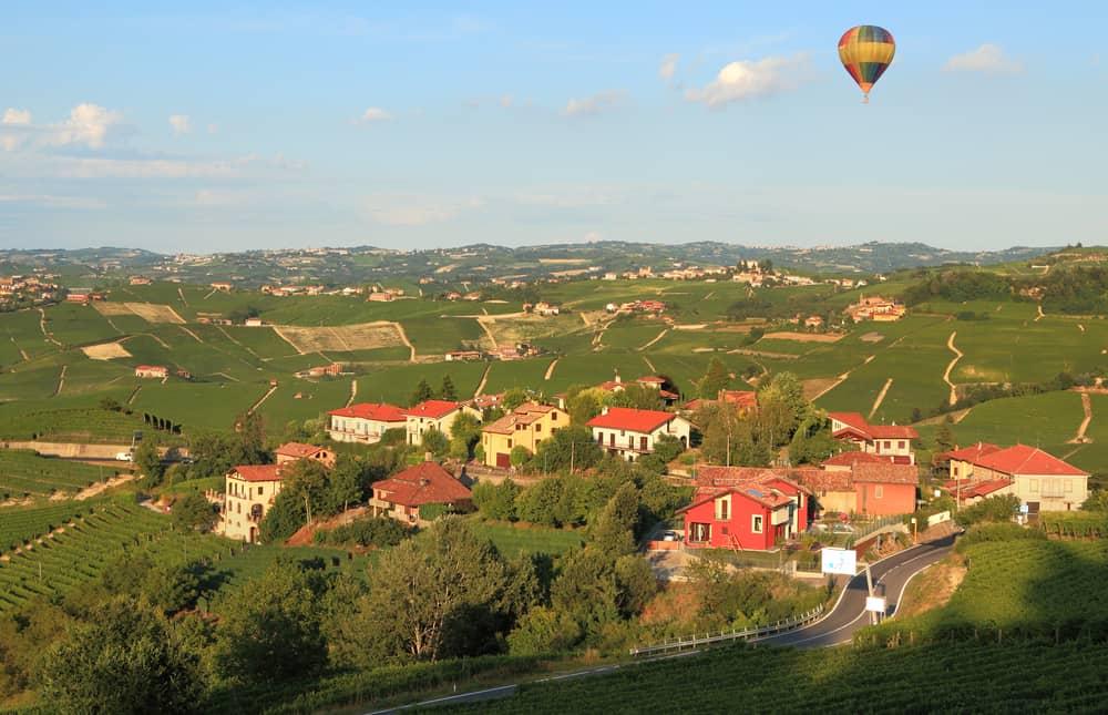 Vinmarker i Pietmont-regionen