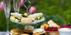 Traditionel britisk afternoon tea