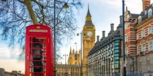 Den ikoniske røde telefonboks - London