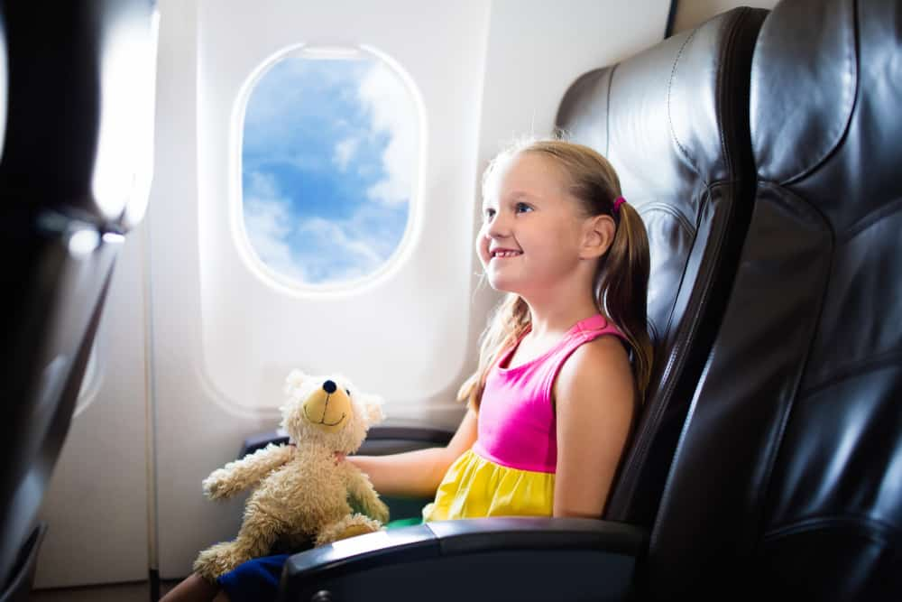 Bamse med på flyveturen