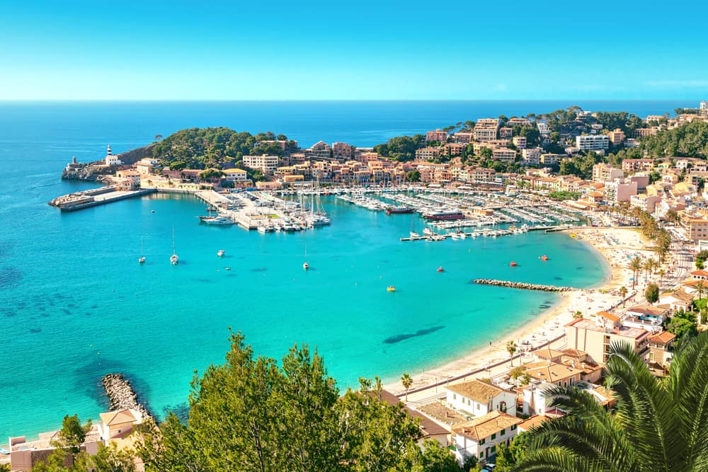Port de Soller på Mallorca i Spanien