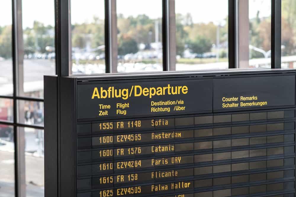 Rejse fra tysk lufthavn
