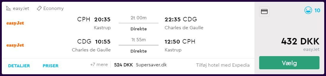 Billige flybilletter til Paris i efteråret