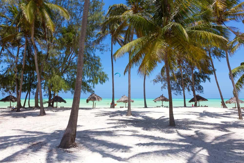 Hvid sandstrand i Tanzania