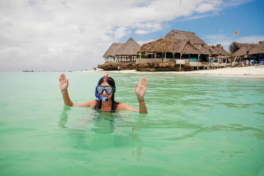 Snorkling på Zanzibar i Tanzania