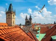 Udsigt over Prags tage