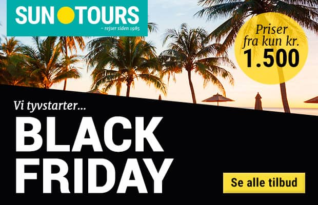 Black Friday hos Suntours