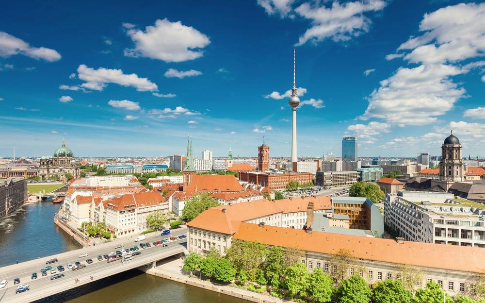 Panorama-view over den tyske hovedstad - Berlin