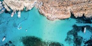 Blue Lagoon på øen Comino - Malta
