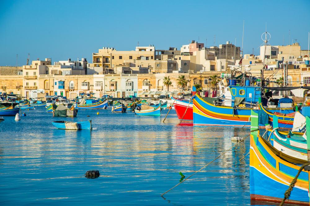 Fiskerbåde på Malta
