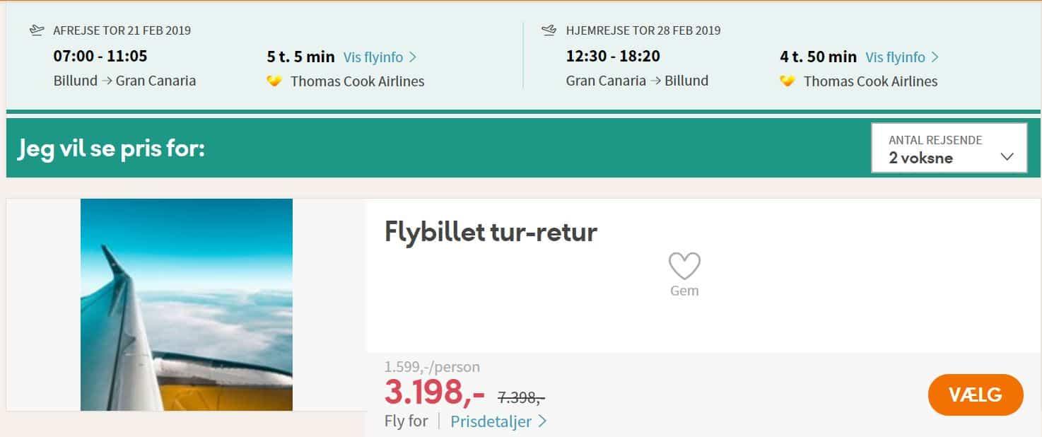Flybilletter fra Billund til Gran Canaria