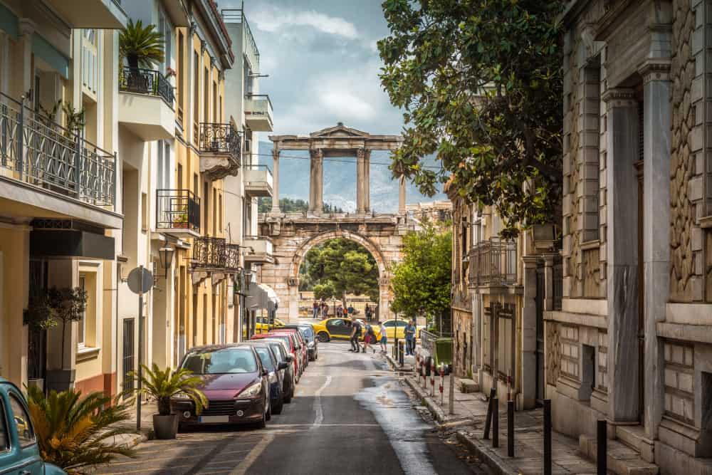 Smuk gade i Athen - Grækenland