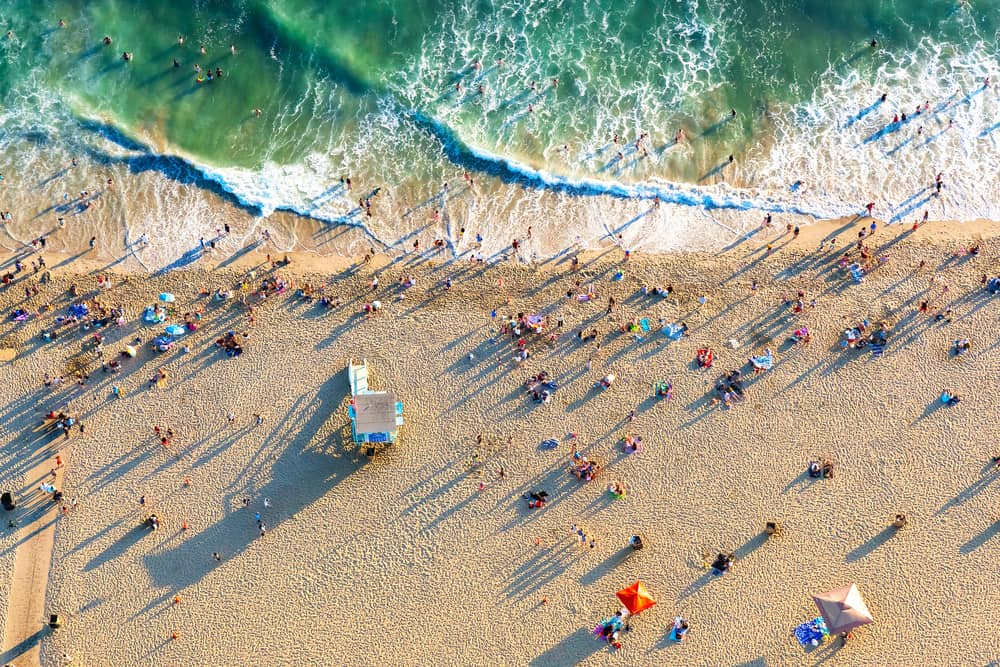 Santa Monica Beach - Los Angeles i Californien