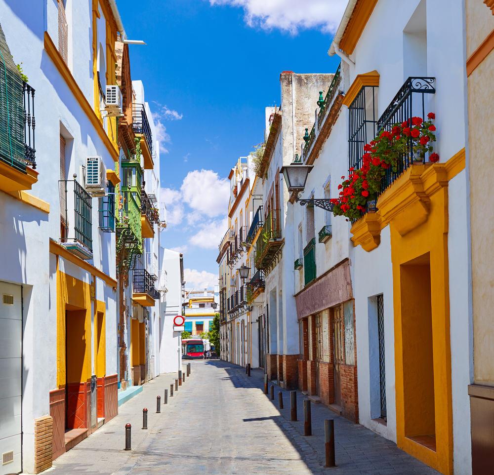 Triana Barrio i Sevilla - Spanien