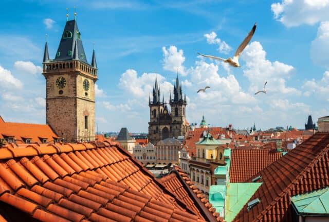 Udsigt over Prag i Tjekkiet