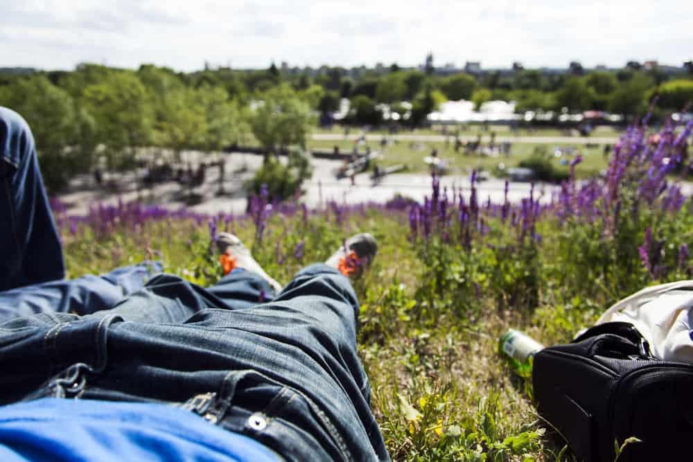 Afslapning i Mauerpark
