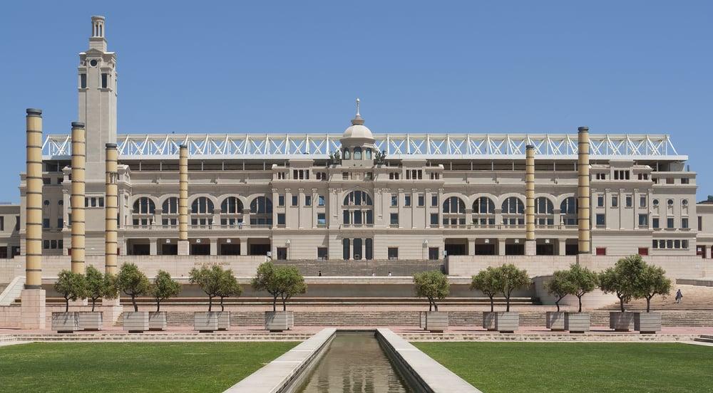 Det Olympiske Stadion - Barcelona i Spanien