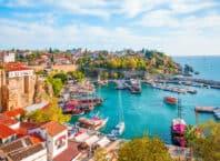 Den gamle bydel i Antalya i Tyrkiet