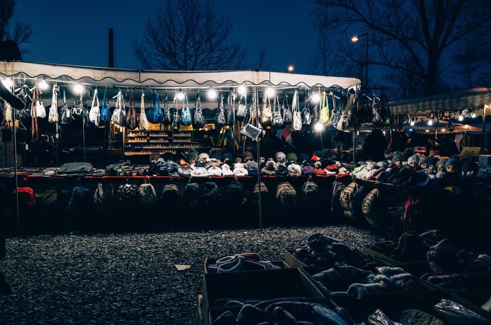 Mauerpark loppemarked i Berlin