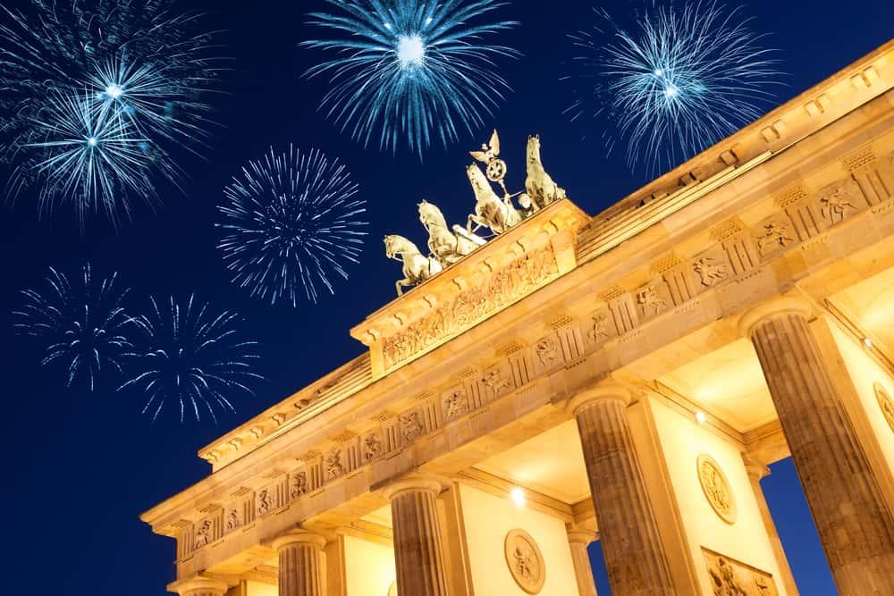 Nytår i Berlin - Brandenburger Tor