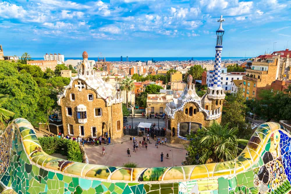 Park Guell i Barcelona