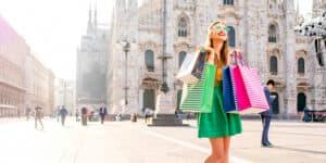 Shopping i Milano i Italien