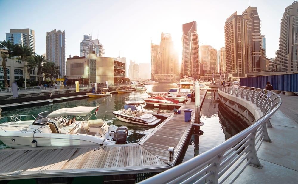 Marinaen i Dubai - De Forenede Arabiske Emirater