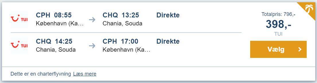Flybilletter fra København til Kreta