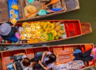 Flydende marked i Bangkok - Thailand