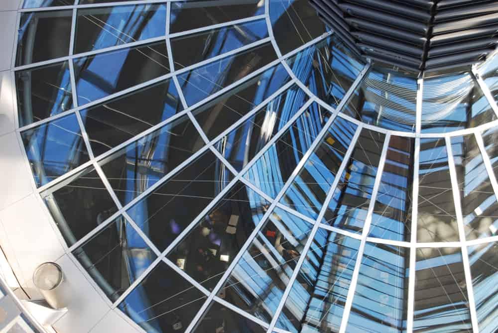Glaskuplen i Rigsdagsbygningen i Berlin