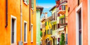 Malcesine ved Gardasøen i Italien