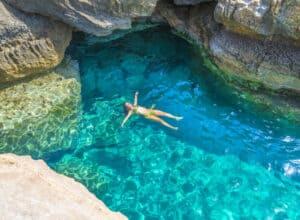 Preveli-stranden i Kreta - Grækenland