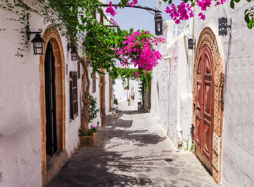 Lindos på Rhodos i Grækenland