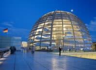 Rigsdagen - det tyske parlament - i Berlin