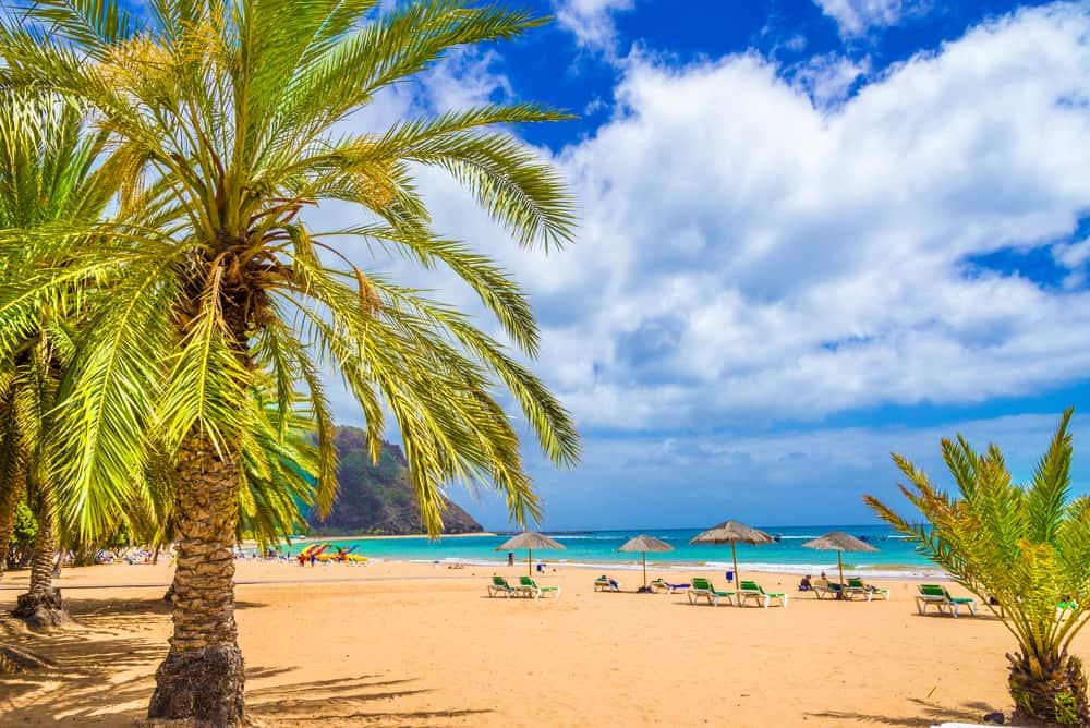 Strand på Tenerife i Spanien