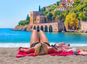 Alanya strand i Tyrkiet