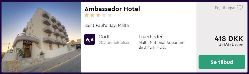 Ambassador Hotel - Malta i Spanien
