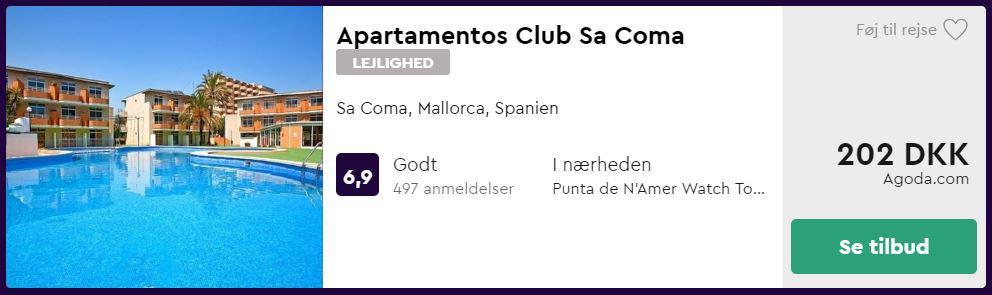 Apartamentos Club Sa Coma - Mallorca i Spanien